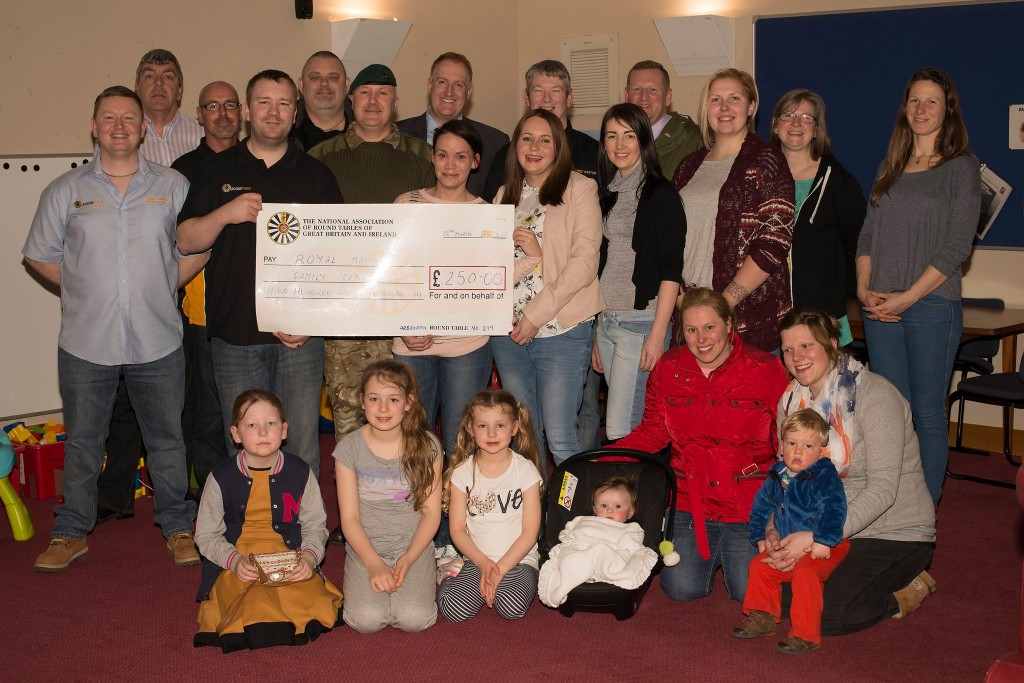 £250 donation to Condor Marines Family Centre