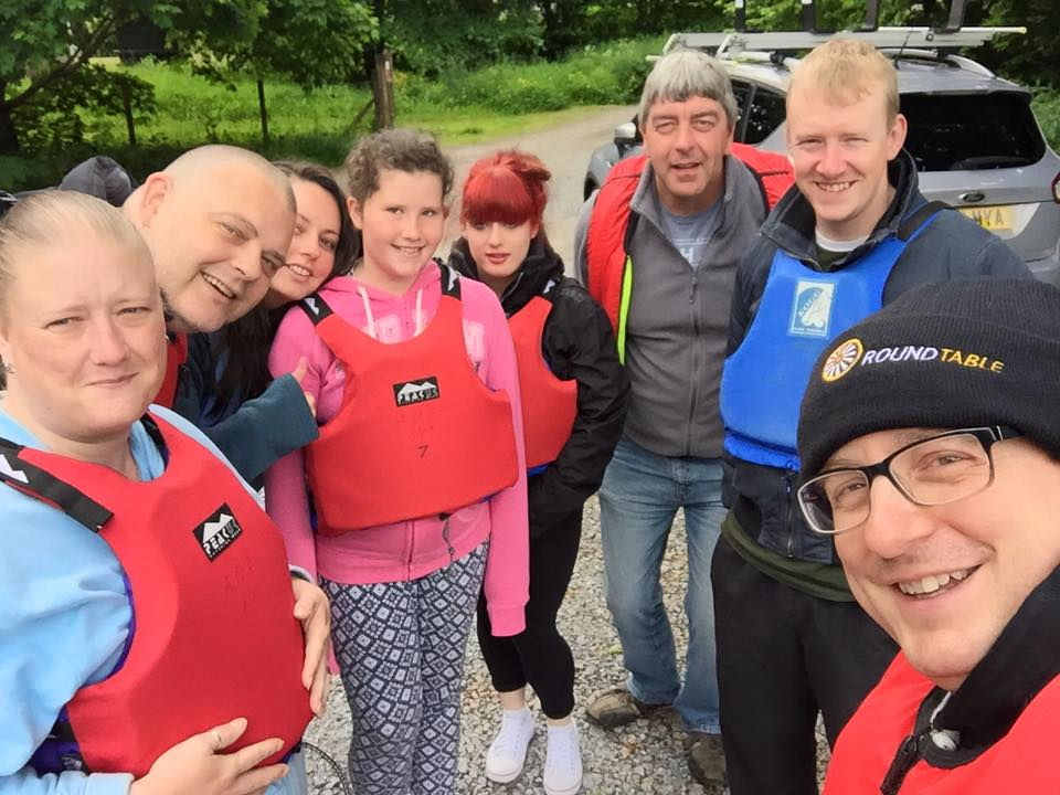 Pre canoeing selfie - note how dry we all are!